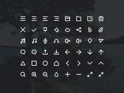 Stokicon - 48 free icons button buttons web clean user interface ui glyphs icon icons free psd freebie