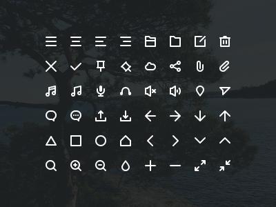 Stokicon - 48 free icons button buttons web clean user interface ui glyphs icon icons free psd freebie