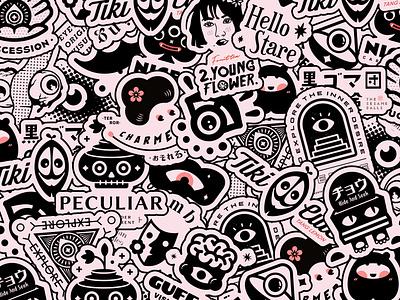 怪诞系列标志 branding logo