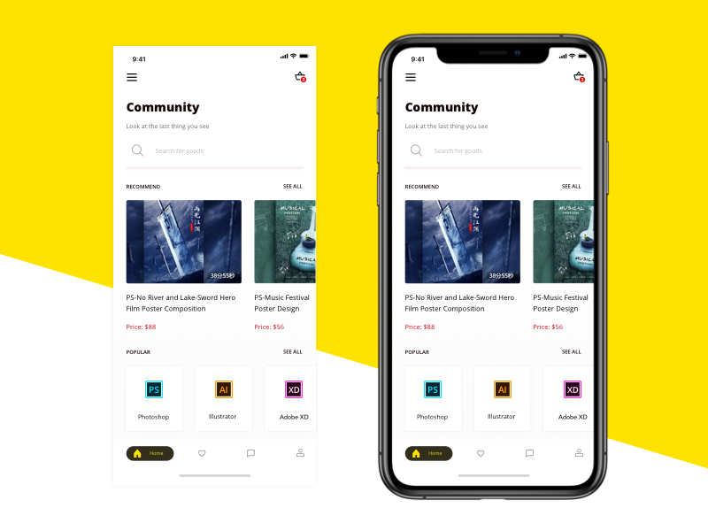 App Conceptual Design of Learning Community ux ui