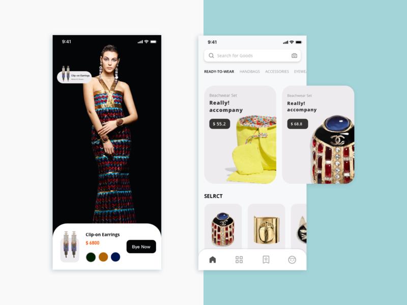 Chanel Concept Interface Design ux ui