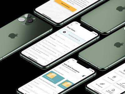 Safety Documents files green mockup ux ui design menu safety documents crane clean uxdesign figma