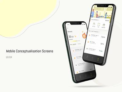 Restaurant Mobile App 🥤 scan rewards clean cook restaurant branding food restaurant app  design figma ui ux user