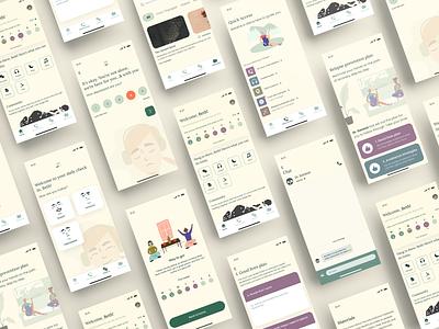 Therapy App - UI Design clean mental health awareness emotions mindfulness figma mental health ui