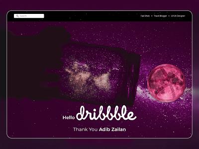 Hello Dribbble! hello dribbble debut shot ui ux user figma design