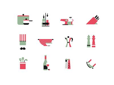 Cucina branding icon minimal illustrator design vector illustration flat