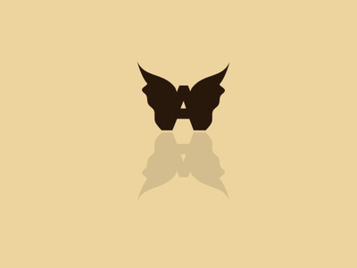A + butterfly best designer art vector inkscape gimp graphic design design logo design graphicdesgn logodesign logo a day logo logodesigner graphic  design
