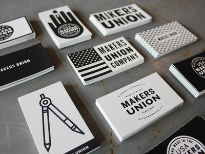 Makers Union Biznus Cards makers union business cards screen print silkscreen photograph