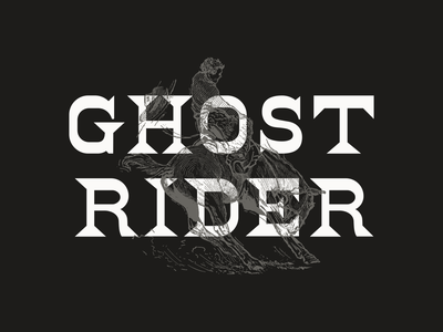 Ghost Rider purchase font wood type revival letterpress wood type type typography