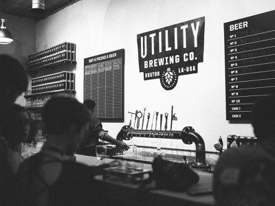 Case Study for Utility signage packaging beer type illustration logo identity branding
