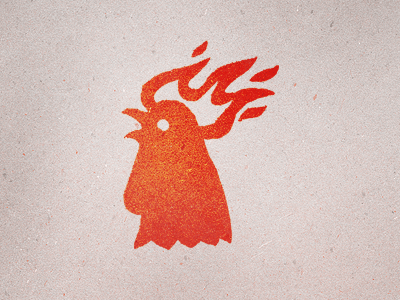 Rooster logo identity rooster fire flames