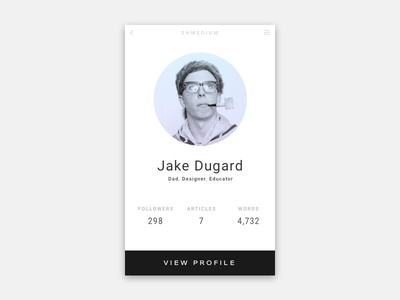 Daily UI 006 | User Profile user profile daily ui 006 ui daily ui