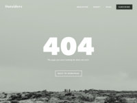 Daily UI 008 | 404 Page