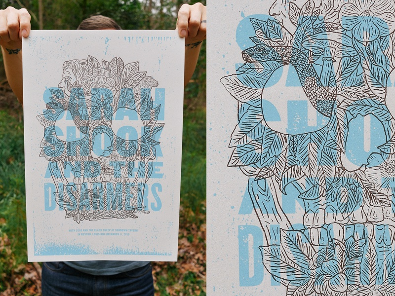Gig poster pics gig poster poster screen print type texture illustration typography