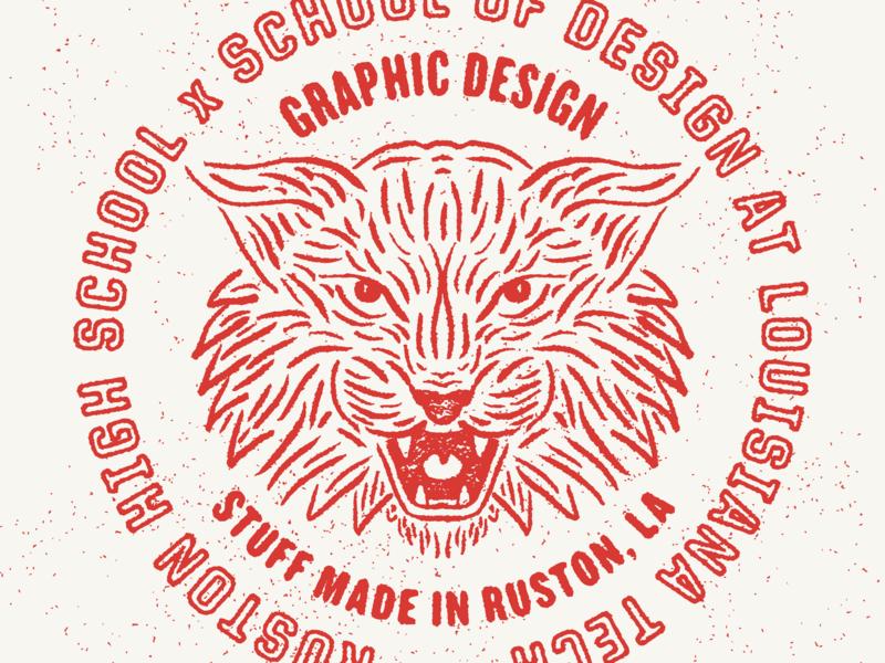 RHS x SOD badge design texture seal illustration bearcat badge