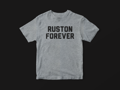 Ruston Forever sketch shirt apparel type texture typography