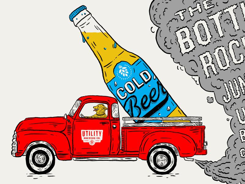 Bottle Rockets Poster gigposter silkscreen screenprint illustration beer