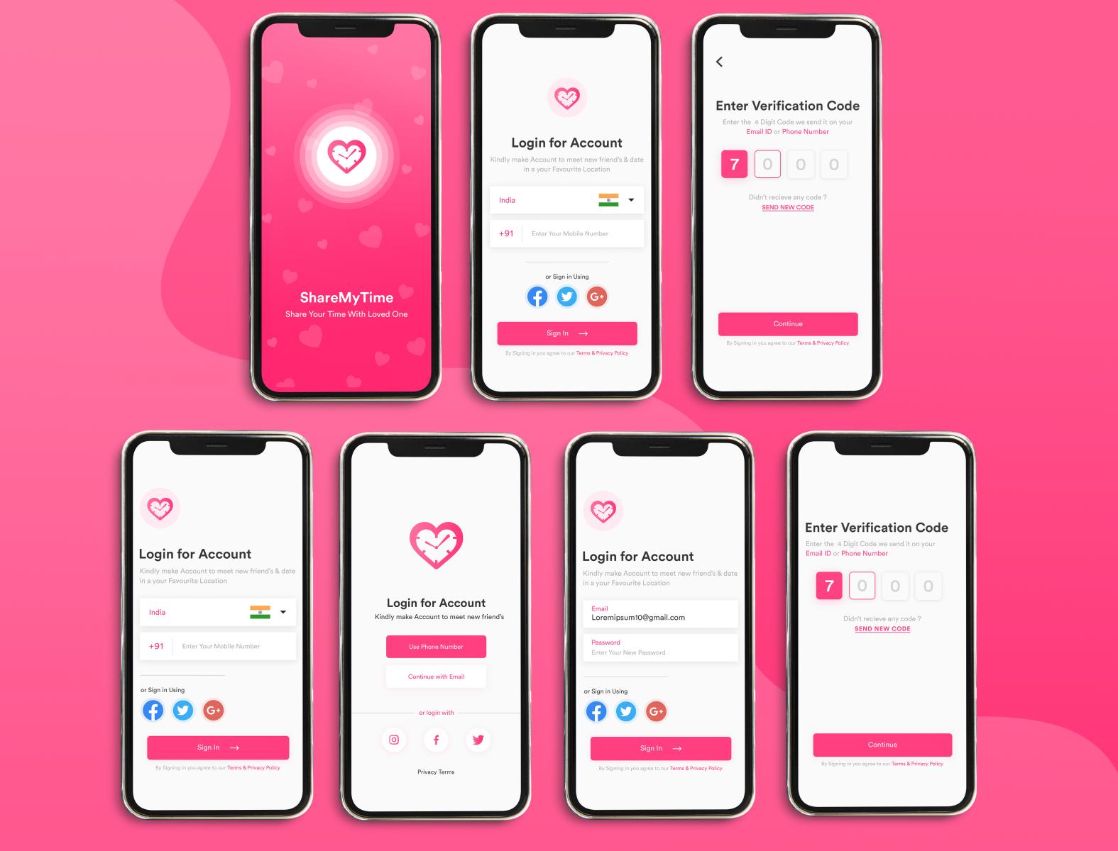 Dating App Design by Dev Design Studio on Dribbble