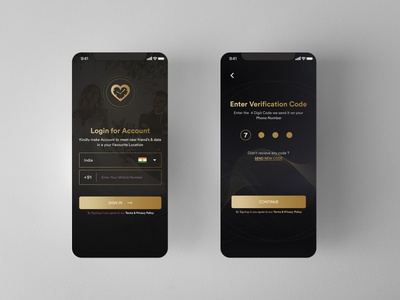 Dating App Premium - Golden Preview golden ui design user interface ui  ux app designer dating app app design vector ux ui design