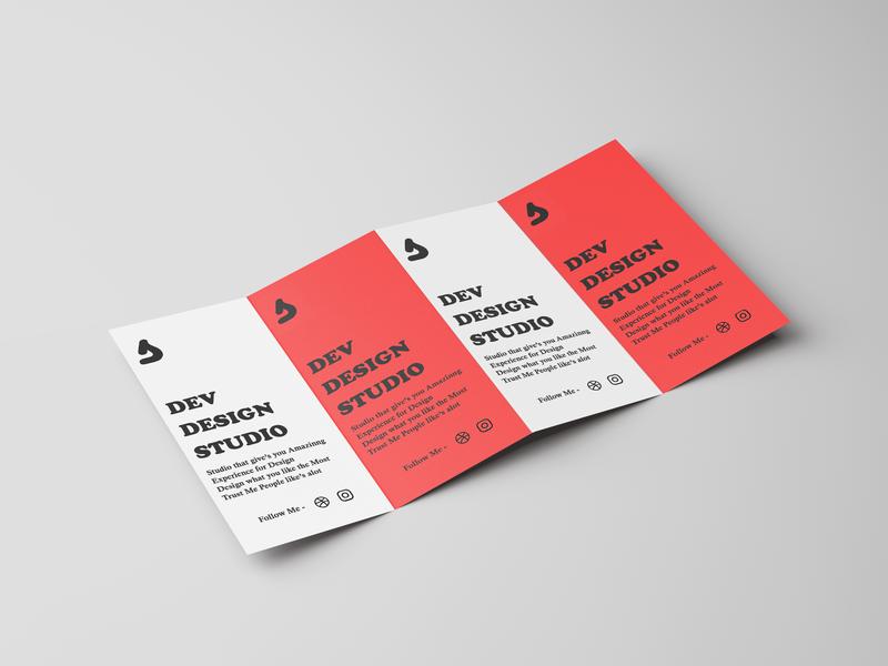 Dev Design Studio Brochure Business Template print mockup white red business brochure mockup brochure design design