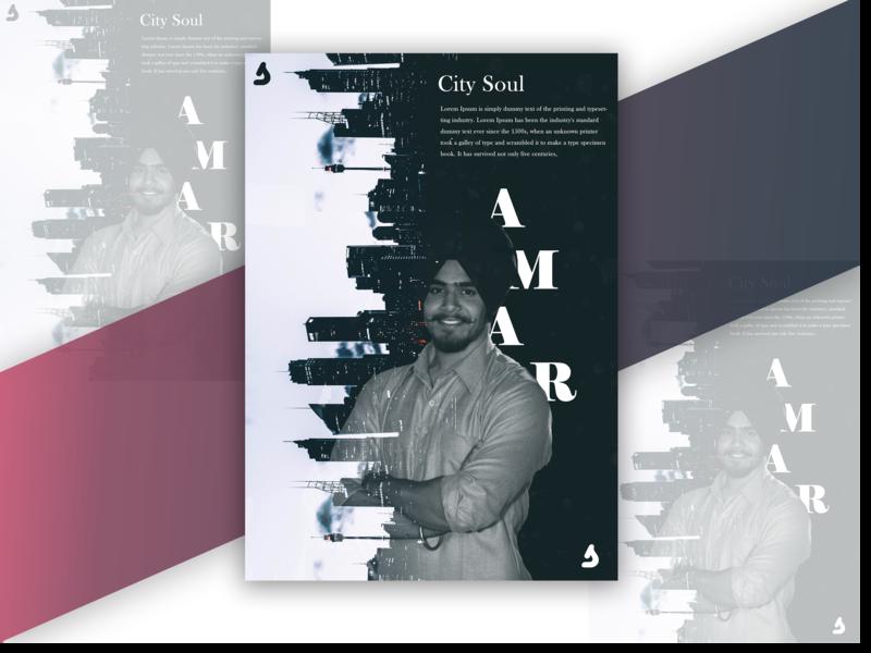City Soul Concept portfolio sardarji town sea sky white city designer poster art poster vector illustration typography ui design