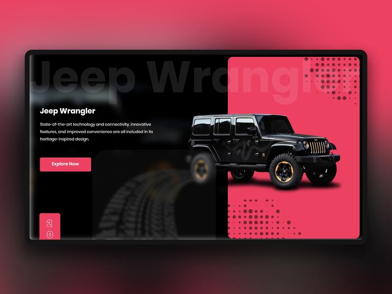 Jeep Wrangler branding landing page vector web design content ux ui typography web design
