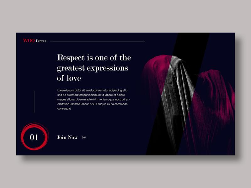 Woo Power - Women Power Group branding homepage landing page vector web design content ux typography web design