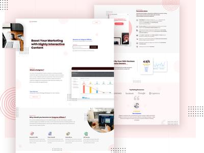 Outgrow Trending homepage landing page vector web design content ui ux typography web design