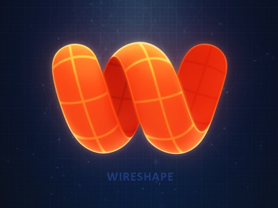 Wireshape Logo wireframe subsurface wireshape render company logo shape wire scanner 3d