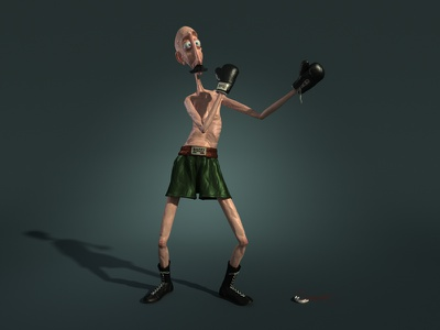 Baffi Storto boxer cartoon cgi 3d italy character fun concept