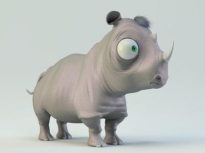 Rinonino rhino rinonino baby 3d cgi anmation character illustration baloom