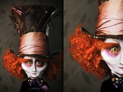 Mad Hatter  caricature mad hatter illustration alice