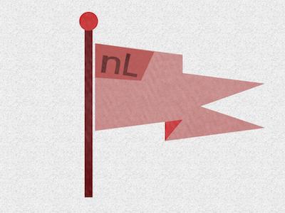 original logo for New League  logo branding badge flag red pink new-league startup