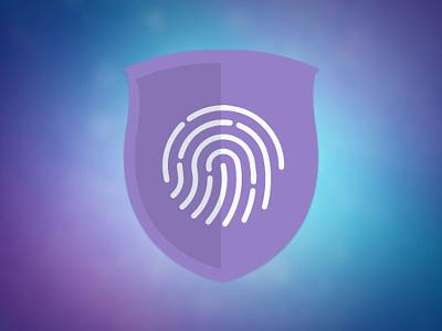 Logo security logo toughid shield purple blue shadow icon