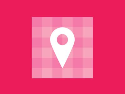 Location Pin Template.  icon