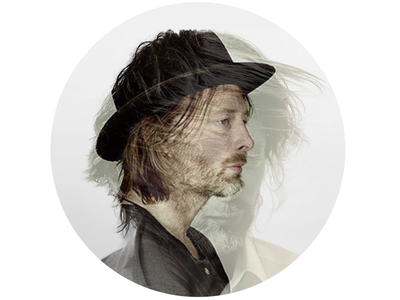 Thom Yorke Double Exposure Profile Image radiohead music photography profile image thom yorke