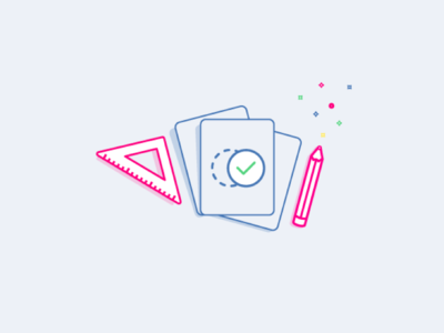 All Work All Play  work wireframe triangle sprinkles icon process pencil magic angel left mark check