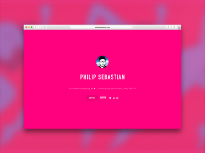 Portfolio Splash Page  desktop portfolio splash page parra