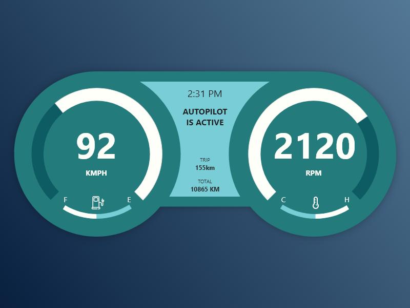 Car Interface daily ui dailyui speed autopilot button app design ui adobe xd