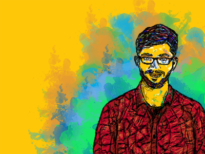 People In My Life : Sajan splatter colours people brother sajan sketching drawing digital portrait