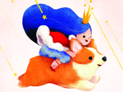 Corgi With Fairy Princess illustration challenge illustraiton agency illustration agency digital illustration illustration children book illustration character design