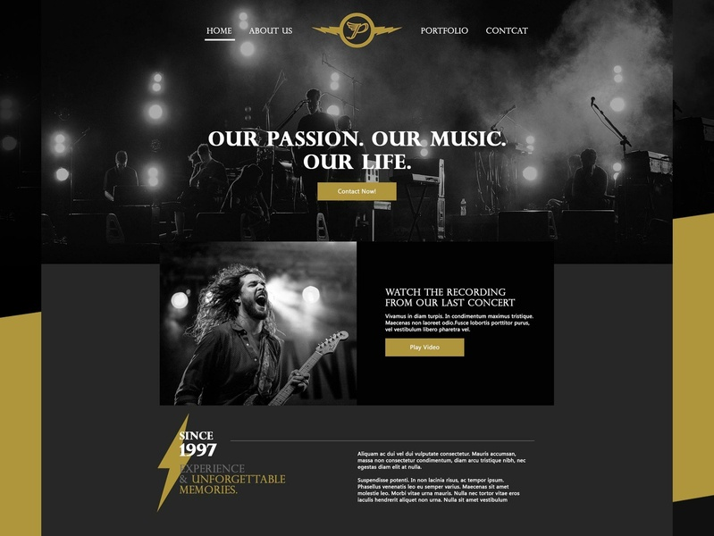 Music Weblayout