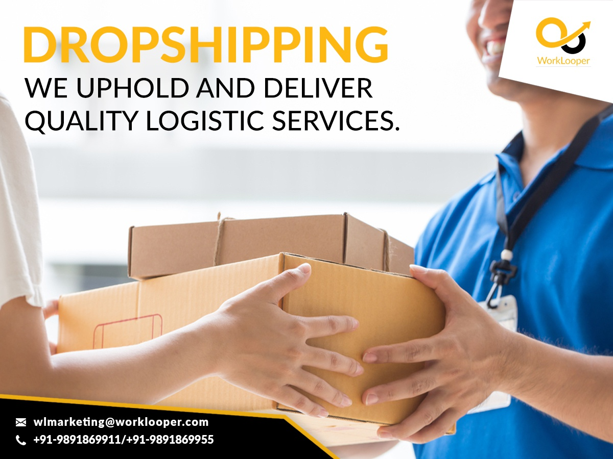 Dropshipping Services Provider by WorkLooper on Dribbble