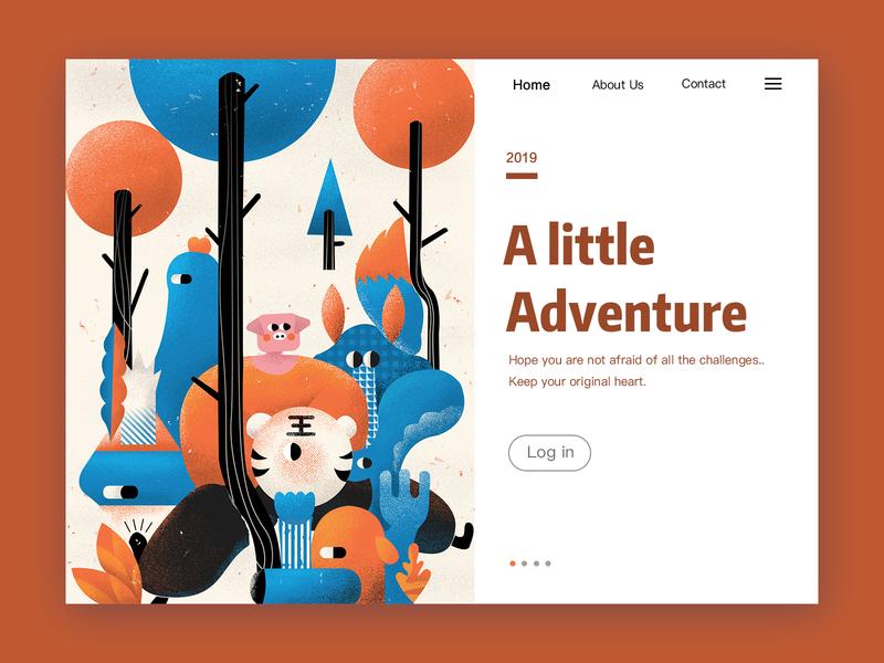 Adventure adventure homepage ui illustration design