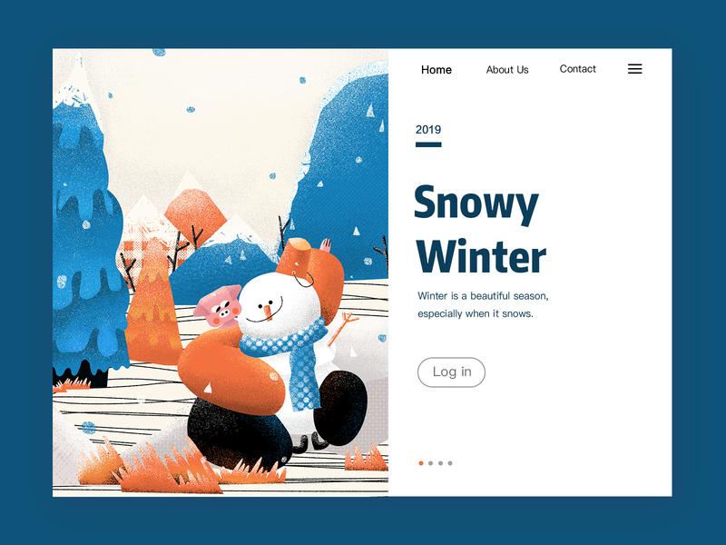 Winter winter is coming winter homepage ui illustration design