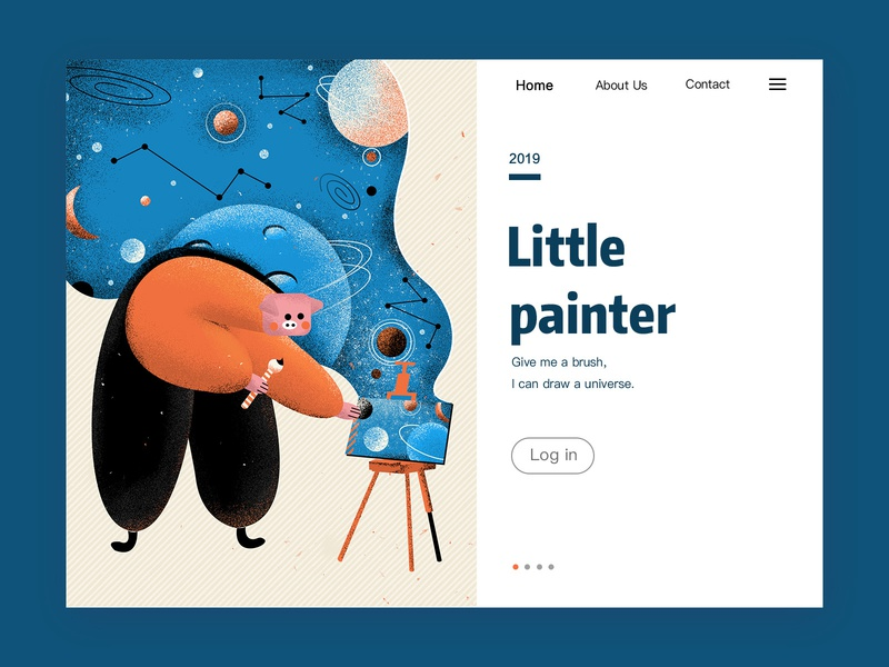 Painter universe dream homepage ui illustration design