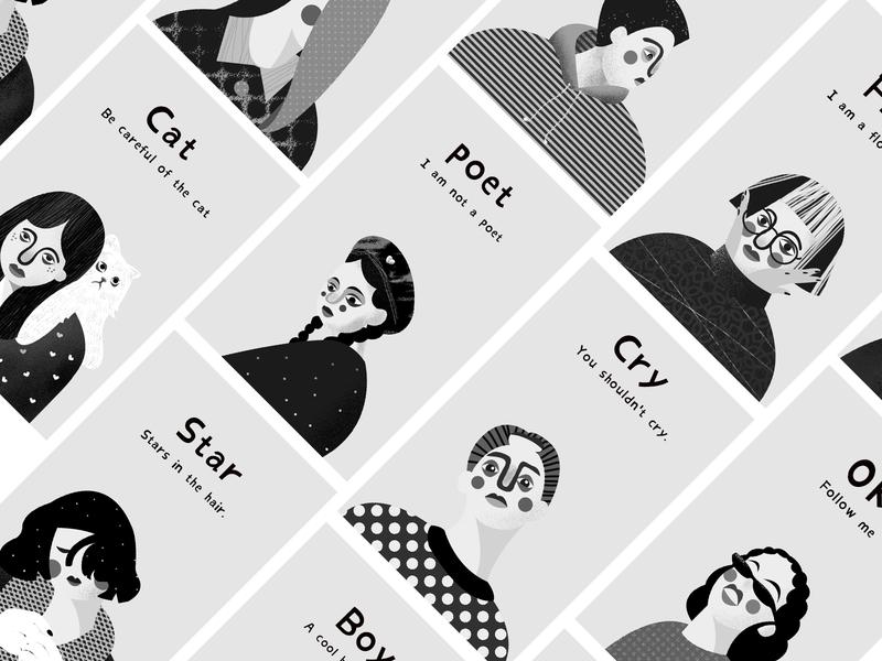 2018/12/28 people black and white ui homepage illustration design