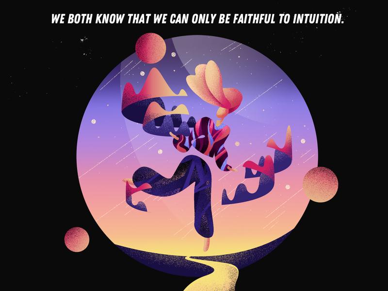 2019/1/10 ui believe universe star dream illustration design