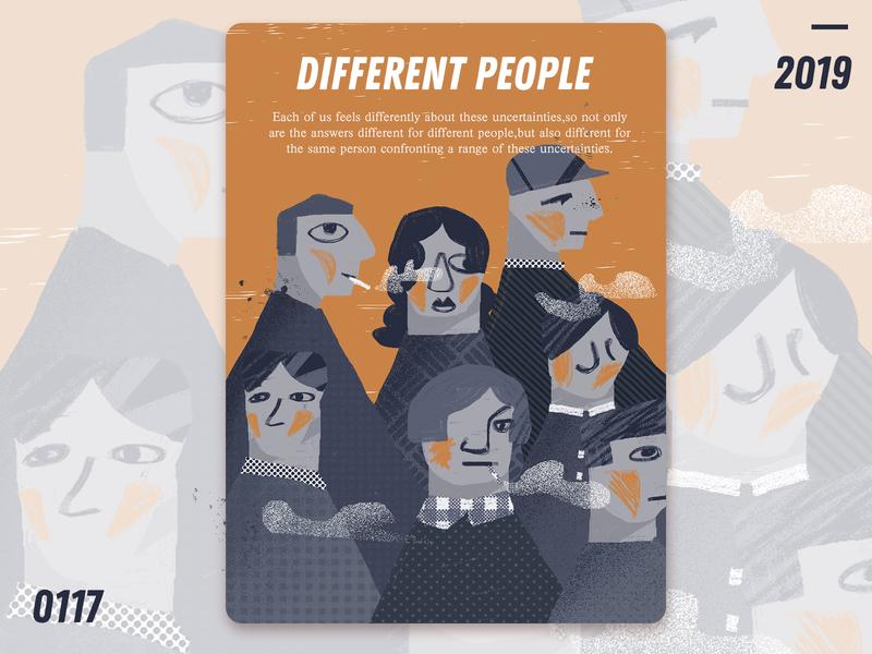 Different people ui  ux design people homepage illustration design