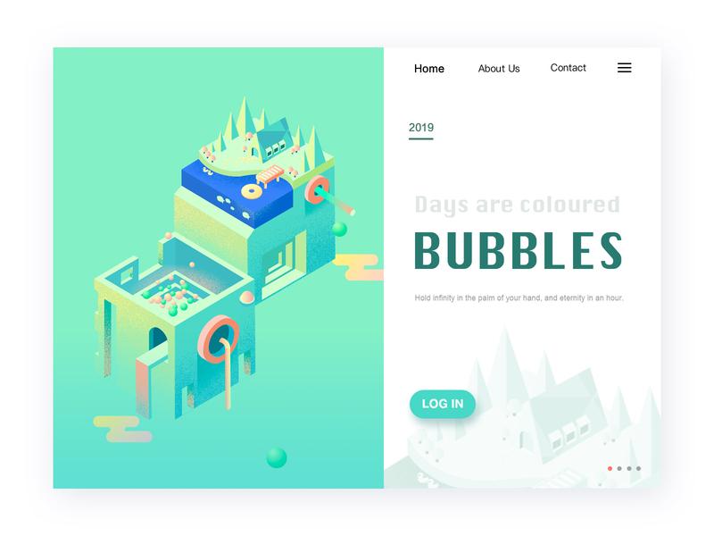 2.5D bubble 2.5d ui ux设计 主页 ui 插图 设计